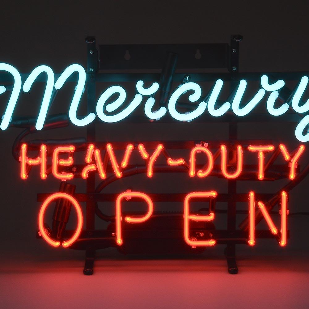 【送料無料】 マーキュリー ネオンサイン OPEN 高EAVY-DUTY ネオンサイン ネオン 看板 ネオンライト サインボード アメリカン雑貨 照明