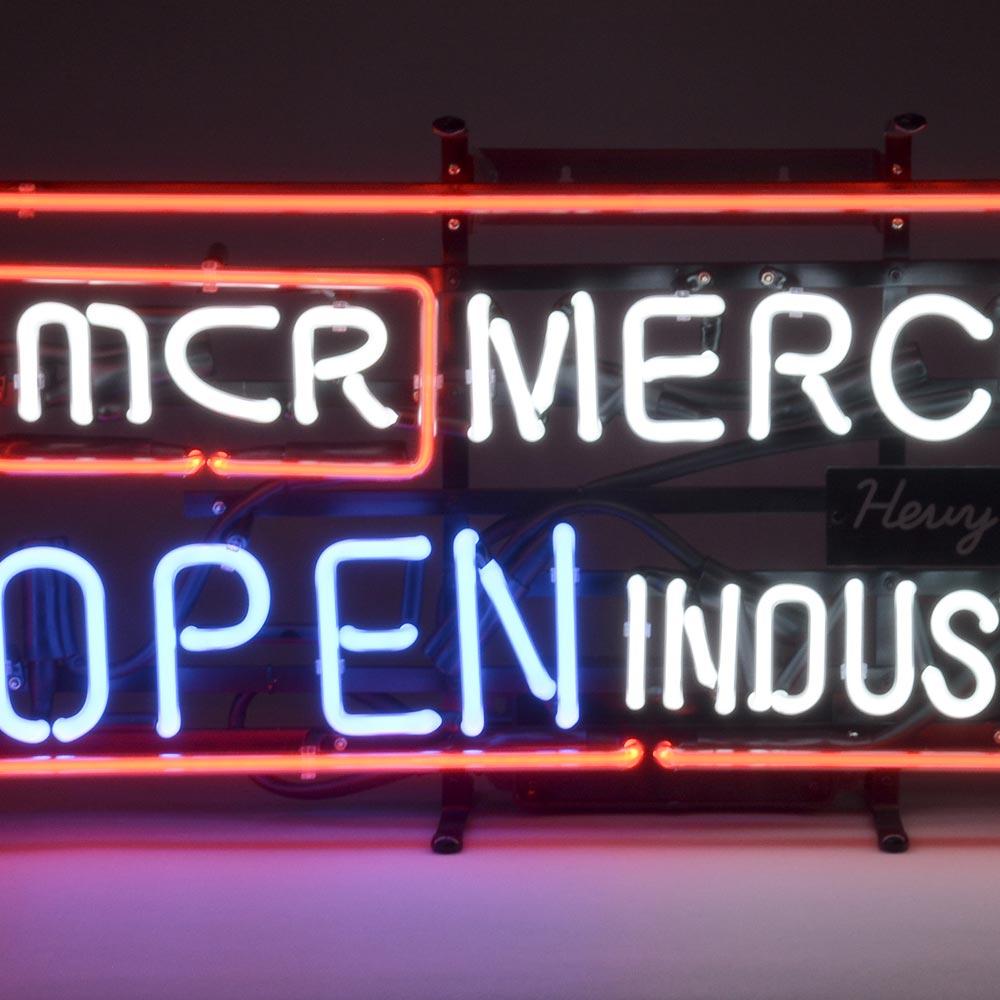 【送料無料】 マーキュリー ネオンサイン OPEN INDUSTRIAL ネオンサイン ネオン 看板 ネオンライト サインボード アメリカン雑貨 照明