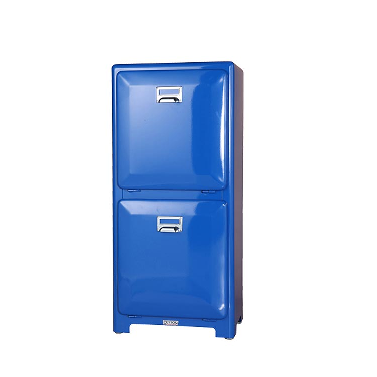 【送料無料】TRASH CAN DOUBLE DECKER BLUE ダルトン DULTON ゴミ箱 分別 スリム おしゃれ ふた付き キッチン リビング ごみ箱 袋 見えない