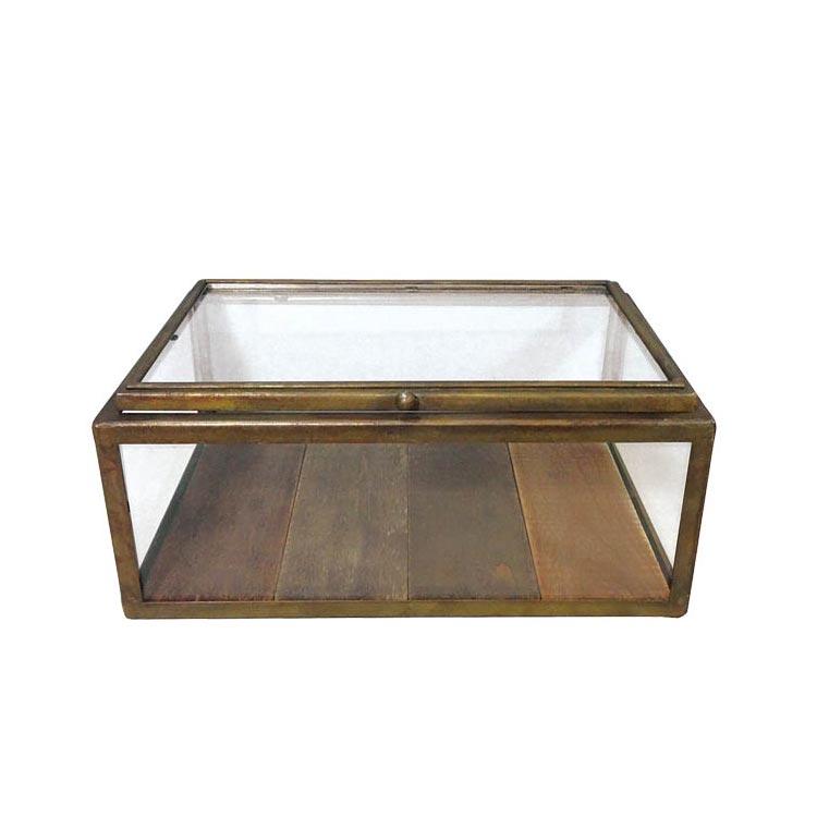 GLASS COLLECTION BOX A.GOLD ガラス コレクションケース コレクションボックス ディスプレイケース アンティーク ガラス ショーケース 木製 ダルトン DULTON