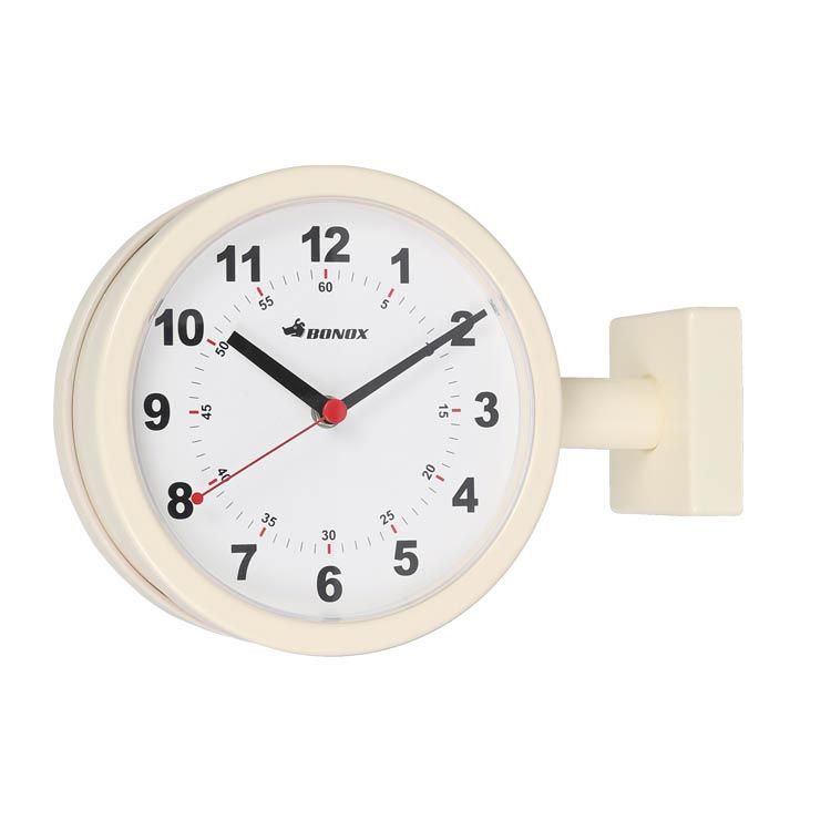 【全品10%OFFクーポン配布中!21日20:00~28日1:59 まで】【送料無料】DOUBLE FACE CLOCK 170D IVORY ダルトン DULTON 掛け時計 壁掛け時計 おしゃれ 両面 アナログ