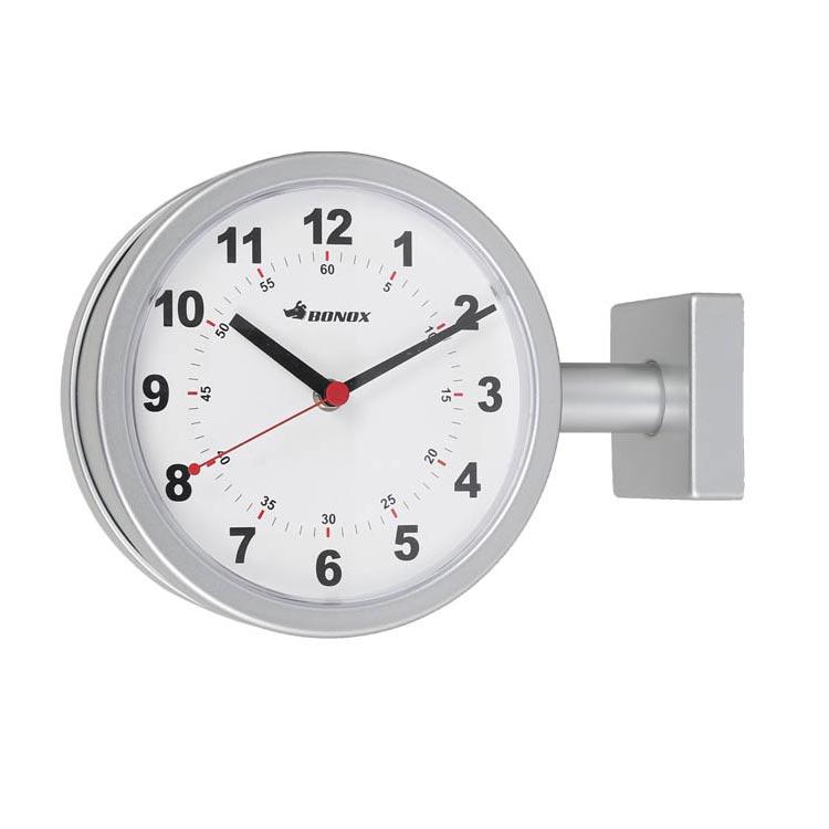 【送料無料】DOUBLE FACE CLOCK 170D SILVER ダルトン DULTON 掛け時計 壁掛け時計 おしゃれ 両面 アナログ