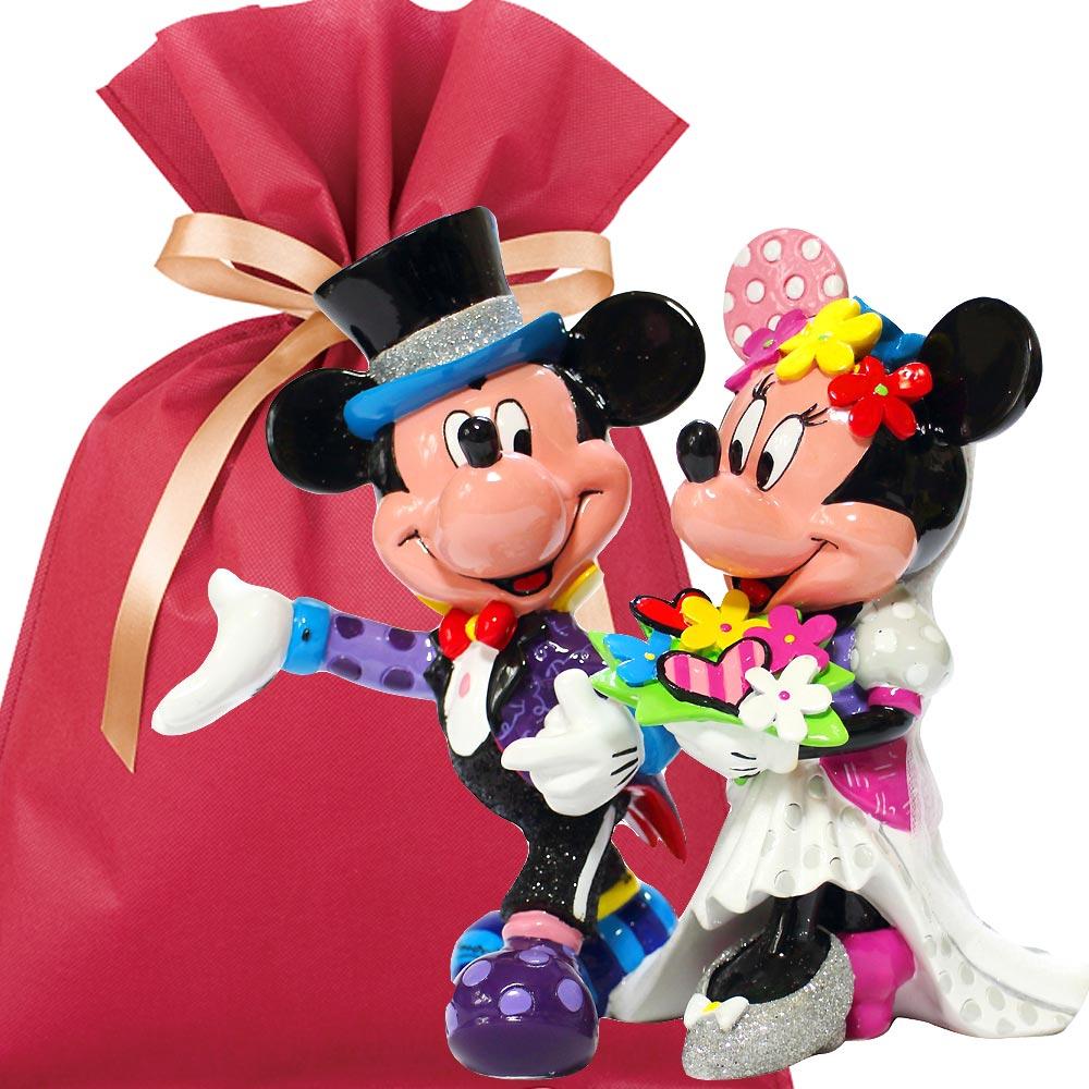 【送料無料】ディズニーフィギュアギフトセット(結婚祝いカード&ラッピング付き)【L】Disney Britto Mickey and Minnie Wedding 結婚祝い プレゼント ディズニー 贈り物 ギフトセット ディズニー ウェディング フィギュア