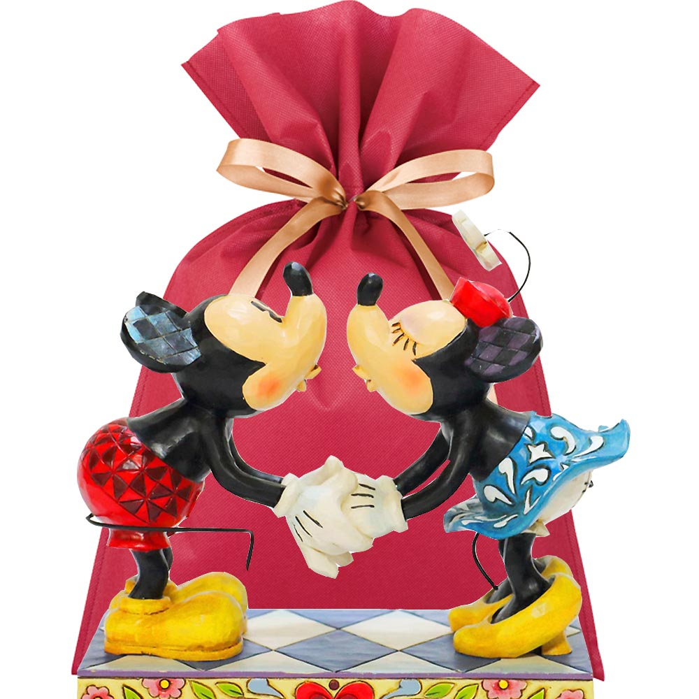 【送料無料】ディズニーフィギュアギフトセット(結婚祝いカード&ラッピング付き)【L】Smooth For My Sweetie-M&M kissing 結婚祝い プレゼント ディズニー 贈り物 ギフトセット ディズニー ウェディング フィギュア