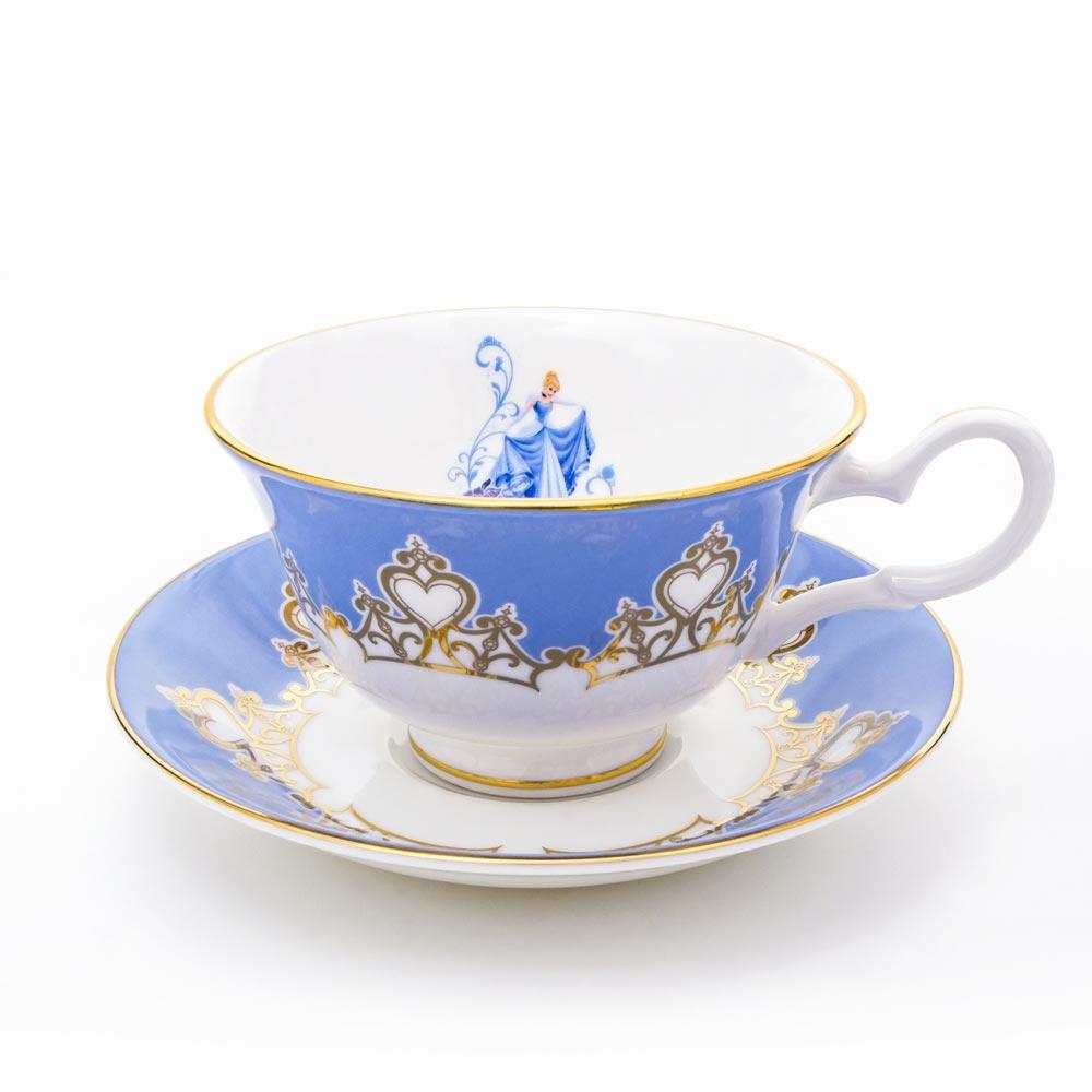 【送料無料】Cinderella Cup&Saucers ディズニー プリンセス シンデレラ カップ&ソーサー フィギュア オブジェ