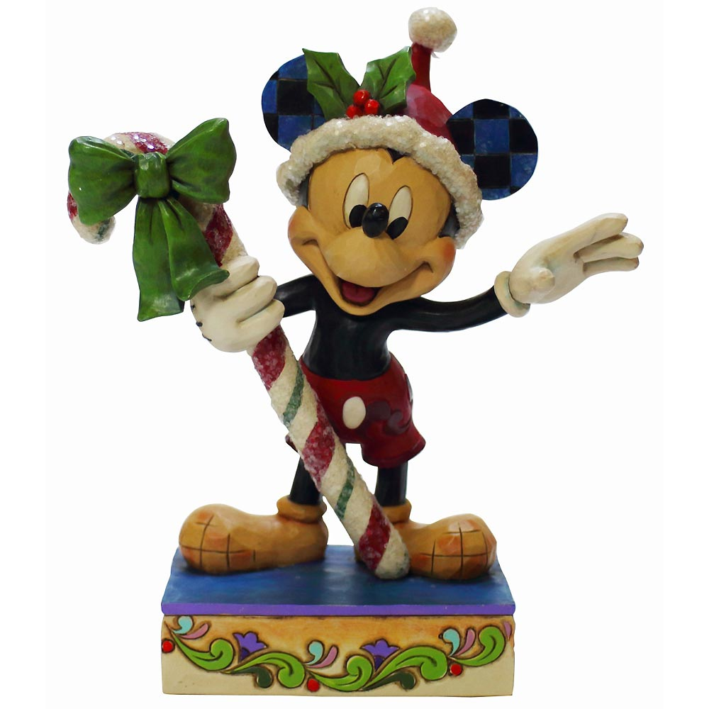 【送料無料】Sweet Greetings Mickey with Candy Cane ミッキーマウス ディズニー フィギュア 置物 人形 フィギア オブジェ