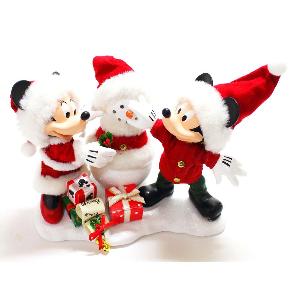 【送料無料】DEPARTMENT56 ミッキー&ミニーズ スノーサンタ ミッキーマウス ミニーマウス ディズニー フィギュア 置物 人形 フィギア オブジェ