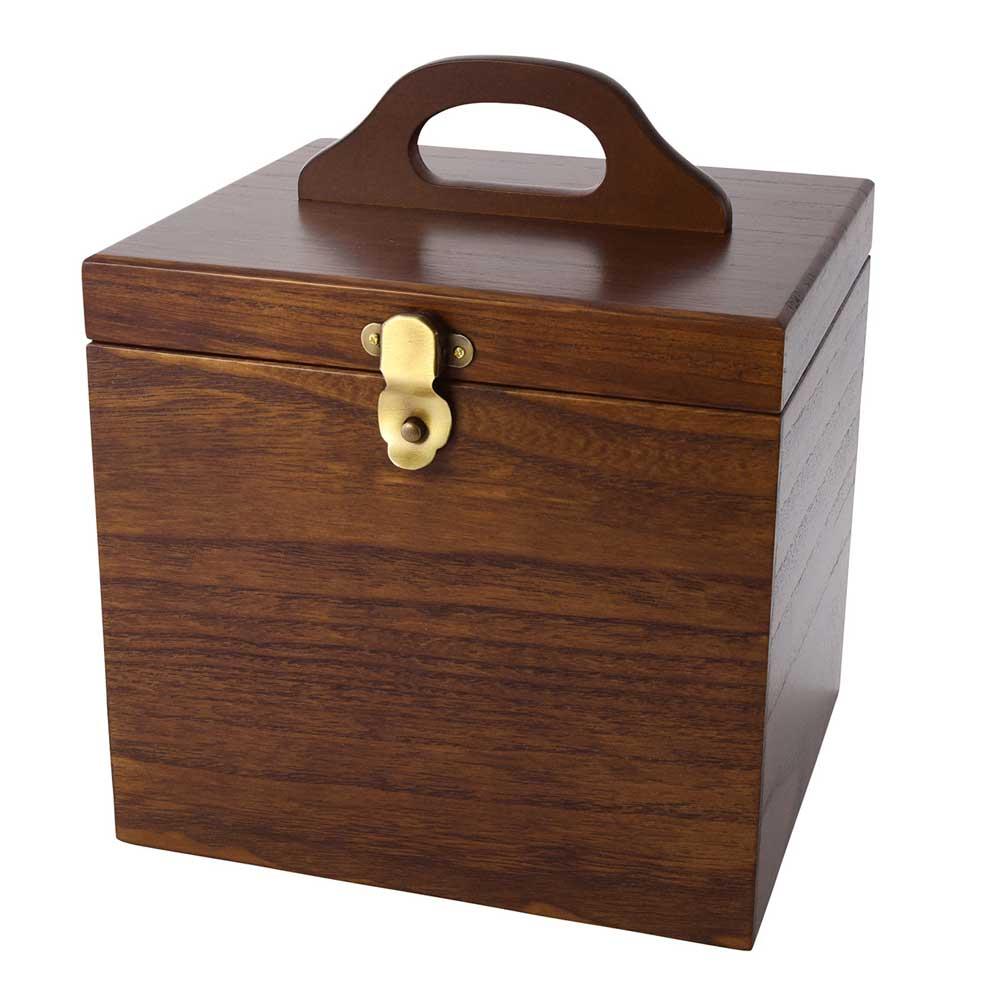 【送料無料】コスメティックボックス メイクボックス コスメボックス 鏡付き コスメ収納 木 大容量