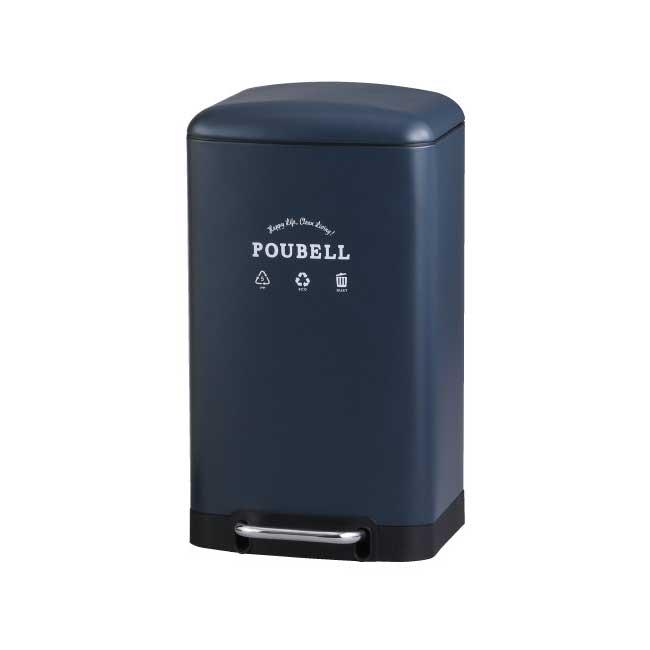 【送料無料】プベル・ペダルビン・L(ネイビー) ゴミ箱 ふた付き ペダル おしゃれ 30リットル スリム