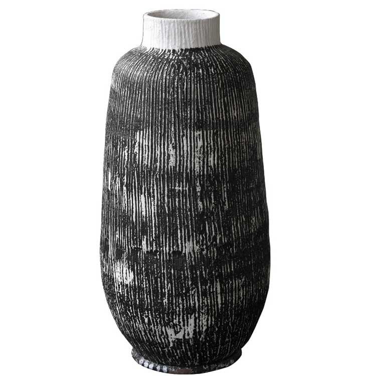 【送料無料】Wow!クールアフリカン フェイントカラー ポット 壺 テラコッタ 鉢 大 ポット 特大