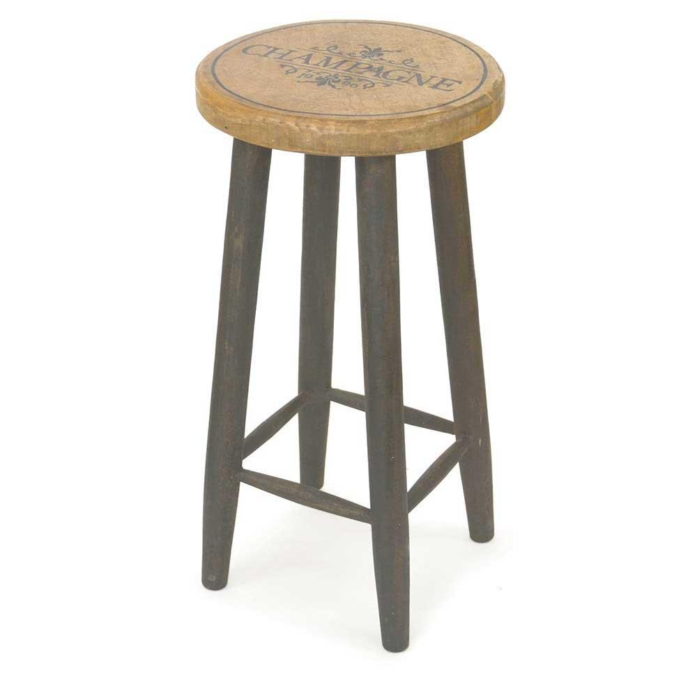 【全品10%OFFクーポン配布中!21日20:00~28日1:59 まで】【送料込】ウッデンラウンドスツール(ロング) 【メーカー直送品】 スツール 丸椅子 木製 アンティーク ウッド