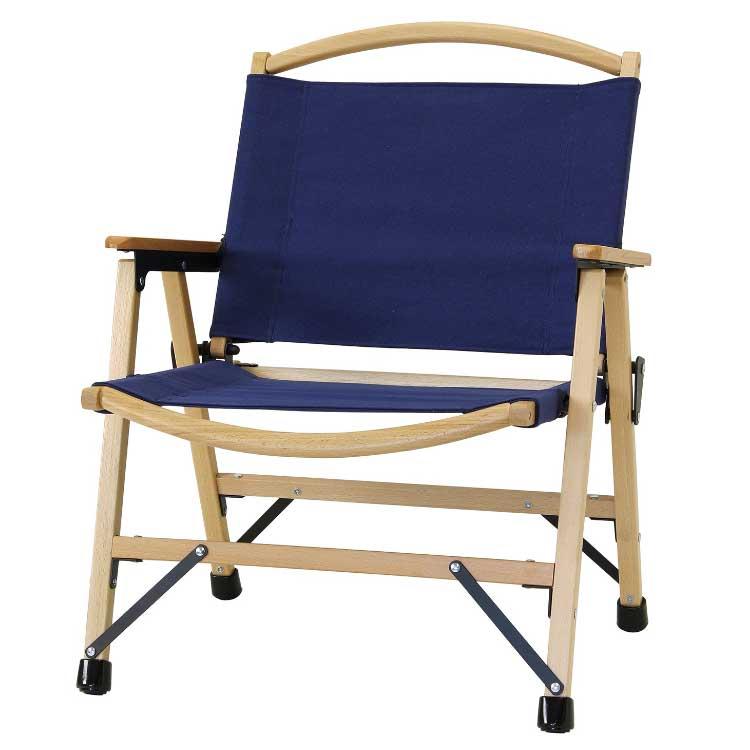 【送料無料】バカンス キャンバスフォールディングウッドディレクターチェア ネイビー チェア チェアー アウトドア 折りたたみチェア 持ち運び 椅子 紺 ネイビー