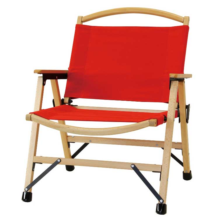 【全品10%OFFクーポン配布中!21日20:00~28日1:59 まで】【送料無料】バカンス キャンバスフォールディングウッドディレクターチェア レッド チェア チェアー アウトドア 折りたたみチェア 持ち運び 椅子 赤 レッド