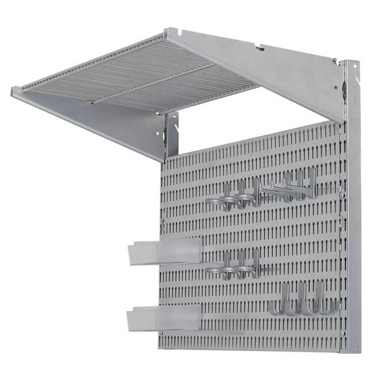 【送料無料】STEEL SHELF & PEGBOARD SET SILVER ダルトン シェルフ 壁 収納 ラック 工具 収納 壁面薄型収納 壁掛け 収納