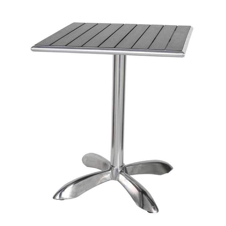 【送料無料】ALUMINUM CAFE TABLE SQ BK  [PX] ダルトン テーブル 四角 小さめ テーブル 2人 カフェテーブル バーテーブル