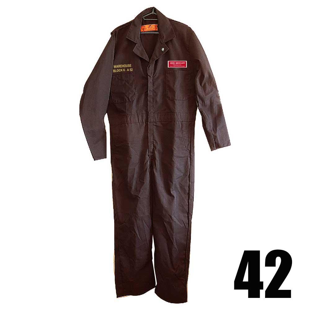 【送料無料】MCRカバーオール ブラウン 42 作業服 マーキュリー アメカジ 作業着 つなぎ オーバーオール 茶 ブラウン