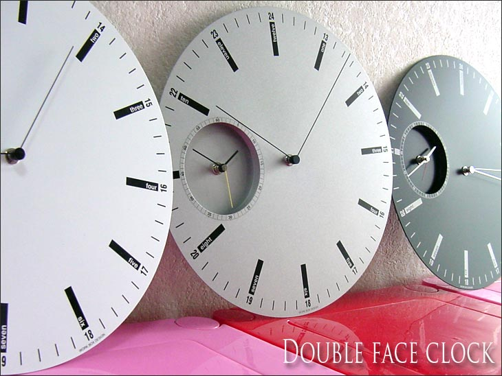 Show free shipping one time Interior clock double face k lock