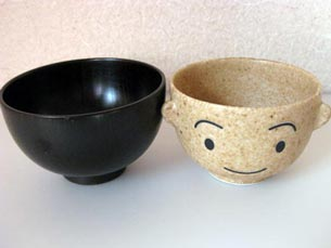 Cute kitchen set of teacups and bowls manpuku set I and daughter of