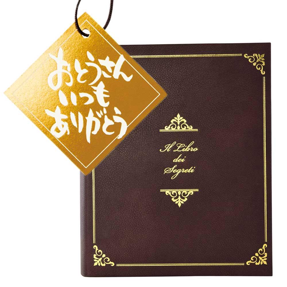 【送料込】本型シークレットボックス ギフトセット(おとうさんタグ付き)【L】   父の日 プレゼント 本型 小物入れ 宝箱 鍵付き アンティーク 本型ボックス 父の日プレゼント