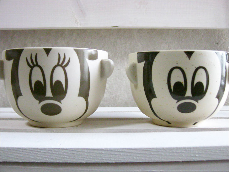 Disney rice bowl set-Mickey-Minnie-Bowl Cup-Bowl-Dinnerware Set-dipping and Teacup mini