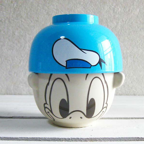 Disney rice bowl set | Rice bowl | Tea wooden bowl | Wooden bowl | Bowl, bowl set mini-_ Donald Duck ≪ second party | Year-end party | Bingo | Premium≫