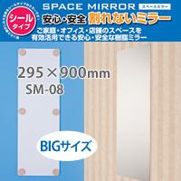 【スペースミラー BIGサイズ 割れないミラー SM-08】