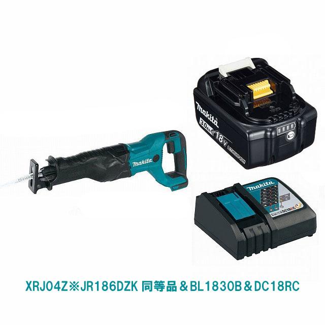 XRJ04Z(緑)&BL1830B&DC18RC マキタ充電式レシプロソー JR186DZK同等品 18V MAKITA USA モデル