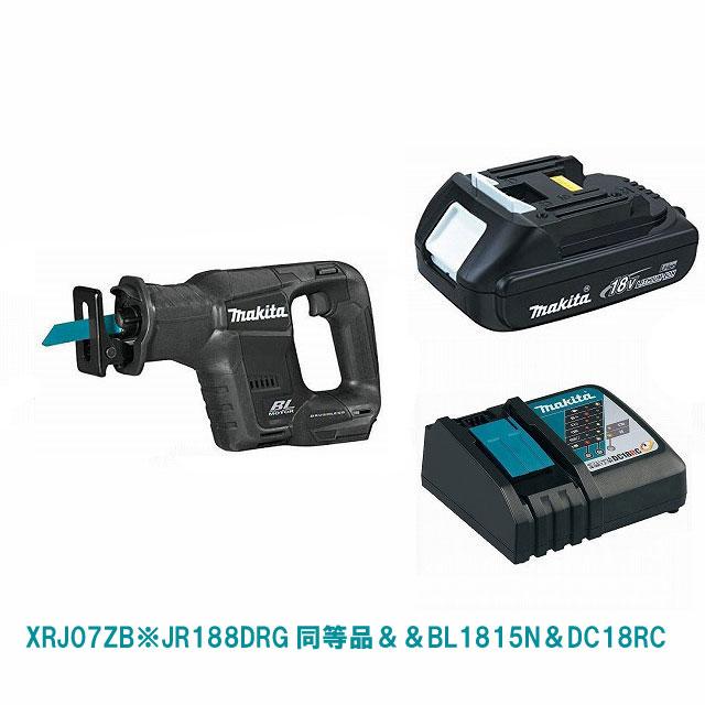 XRJ07ZB(黒)&BL1815N&DC18RC マキタ充電式レシプロソー JR188DRG同等品 18V MAKITA USA モデル 日本未発売カラー
