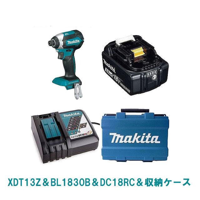 XDT13Z(緑)マキタ 18V インパクト ドライバー セット【BL1830Bバッテリー搭載】純正品 MAKITA 充電式