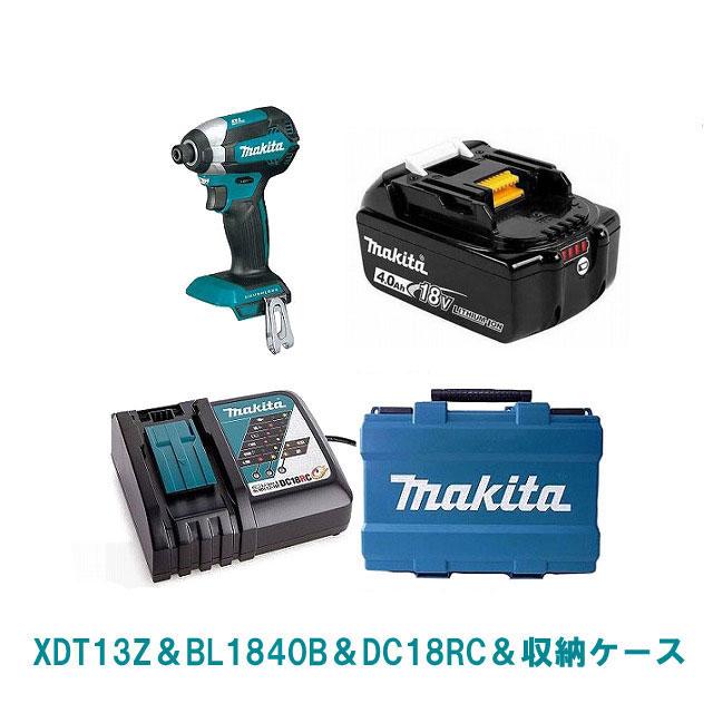 XDT13Z(緑)マキタ 18V インパクト ドライバー セット【BL1840Bバッテリー搭載】純正品 MAKITA 充電式