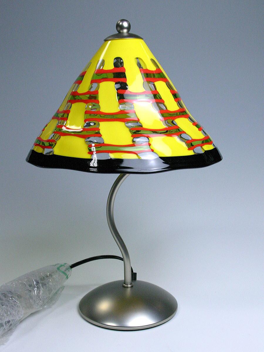 【送料無料】イタリアのマエストロ手作り♪ベネチアンガラスのランプ イエロー
