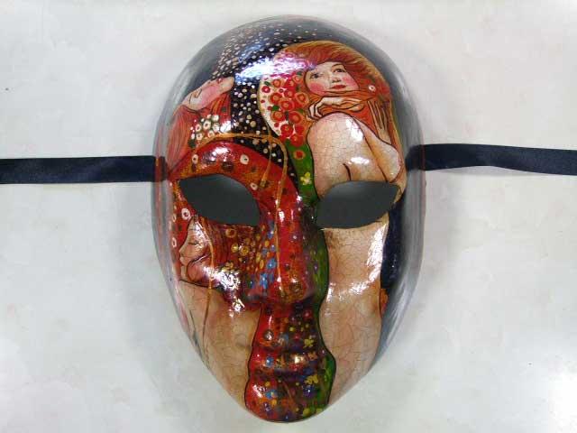 【ベネチア 仮面】 手描き仮面アート【模写 クリムト フレンズ】