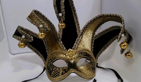 【ベネチア 仮面】<BR>デザイナーズ アイマスク  ジョリーブラック <BR><BR> <BR> 【楽ギフ_包装】