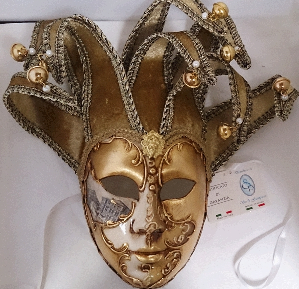 ベネチアのマスケラ 仮面 ジョリー ベージュ