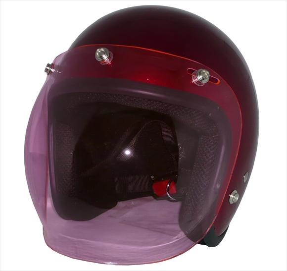 ポイント3倍!ZK-380スモールジェット【キャンディレッド】+ピンクバブルSG公認 PSC認可 全排気量対応盗難防止金属ホルダーヘルメット+シールド2点セット