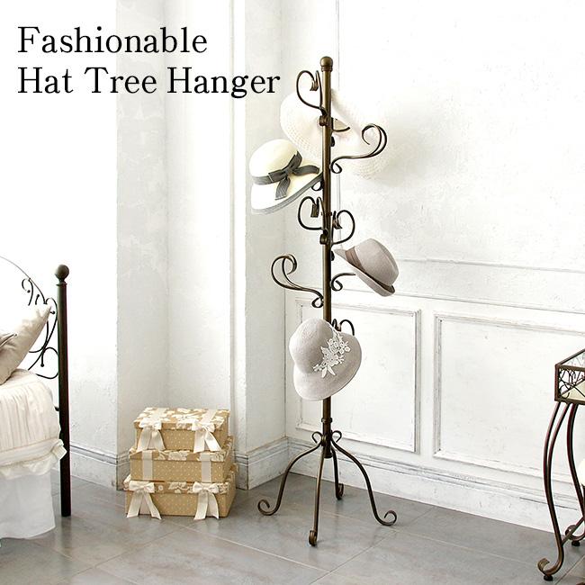 コートハンガー 帽子ハンガー ハンガーラック ハットツリー ゴールドお洒落 アンティークデザイン 帽子ツリー ポーチハンガー p-1800