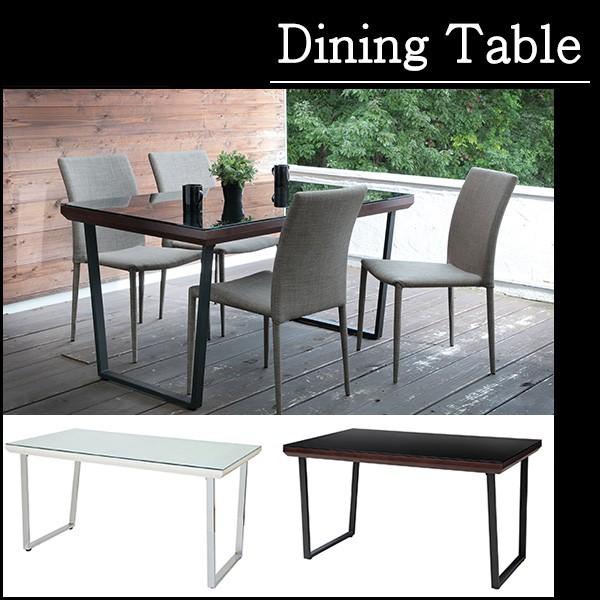 強化ガラスを使用し脚は、スチールとモダンデザインなおしゃれな ダイニングテーブル ガラストップ キッチンテーブル 机 カフェテーブル コーヒーテーブル 食卓 シンプルモダン ダイニングテーブル 4人掛け 幅135×奥行80cm モダンデザイン ウォールナット おしゃれ ガラス テーブル 送料無料