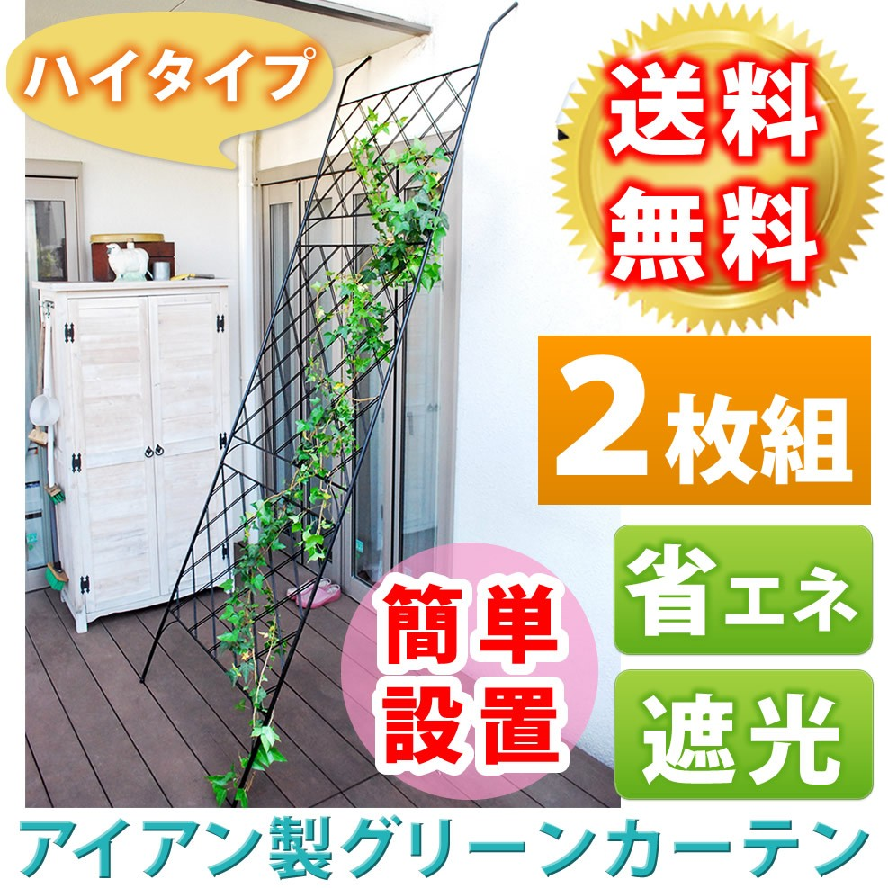 グリーンカーテン お庭やベランダにお洒落なガーデンフェンス アイアンフェンス 2枚組トレリス オベリスク フェンス 送料無料