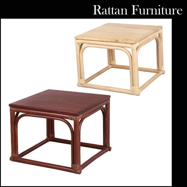 送料無料 アジアンテイストにも使える天然素材の籐を使用した和みのある縁側テーブル 籐素材 サイドテーブル リビングテーブル ラタンテーブル 籐家具 籐テーブル NO-300