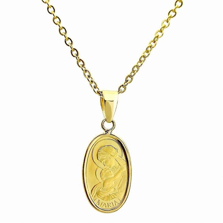 純金 インゴット K24 マリア ペンダント トップ 金色 ネックレスチェーン 付き PAMP社 Sears(シアーズ)