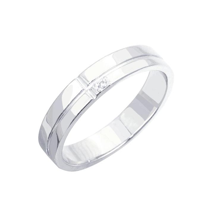 リング レディース 刻印無料 ダイヤモンド1ピースラインシルバーリング(ロジウムコーティング) シルバー925 クリスマス プレゼント