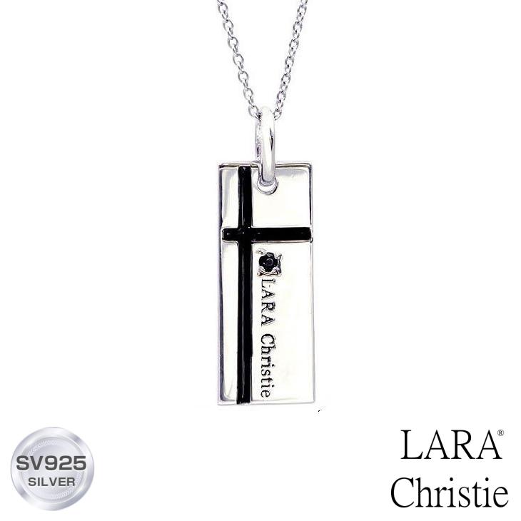 ネックレス メンズ LARA Christie (ララクリスティー) ノーブル クロスネックレス[ BLACK Label ] シルバー ネックレス メンズ 誕生日プレゼント クリスマス プレゼント