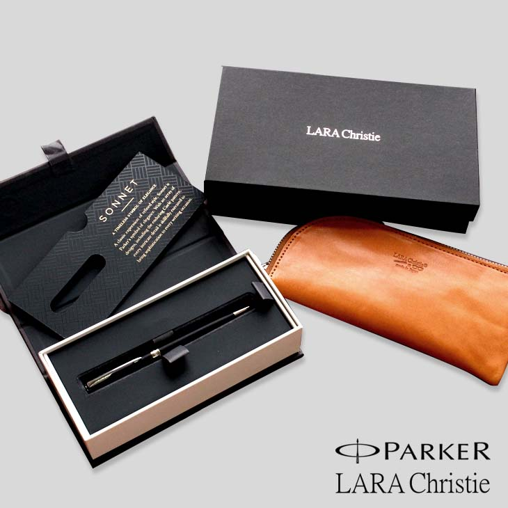 PARKER(パーカー) ソネット2016 ボールペン スリム LARA Christie ララクリスティー ペンケース 本革 ll74-1950882