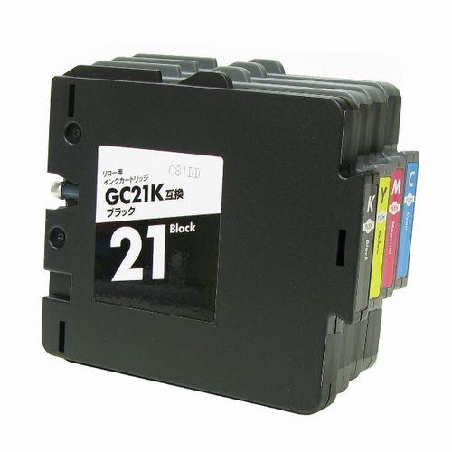 リコー〔RICOH〕 GC21互換インクカートリッジ4色セット(GC21BK,GC21C,GC21M,GC21Y)(顔料インク)