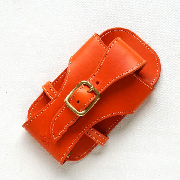 革蛸謹製スマートフォンケース/オレンジ