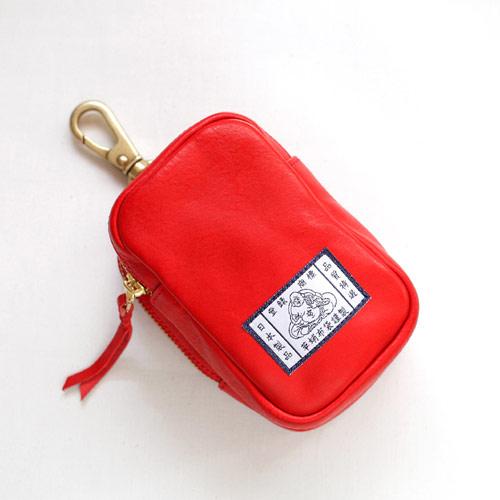 【革蛸布袋謹製】布袋のベルトポーチ レッドボックス【smtb-td】【saitama】