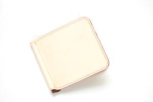 保障 ネコポス応商品 財布 札バサミ 薄型 日本製 L型 信憑 イタリアナチュラルレザー シンプルマネークリップ
