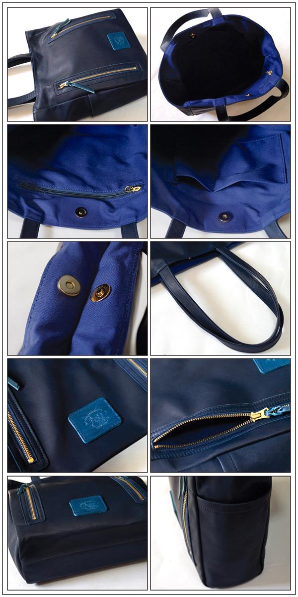 add730c19019 革蛸謹製 キーポルダー 藍染牛革トートバッグ:オリジナルレザー ...