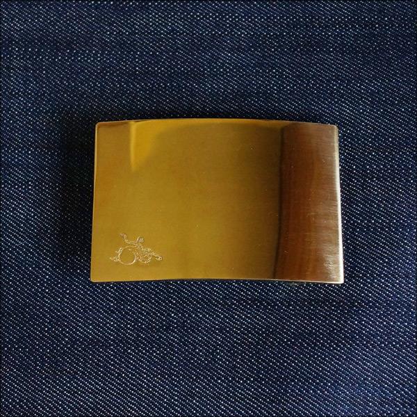 革蛸謹製 ブラス製プレートバックル