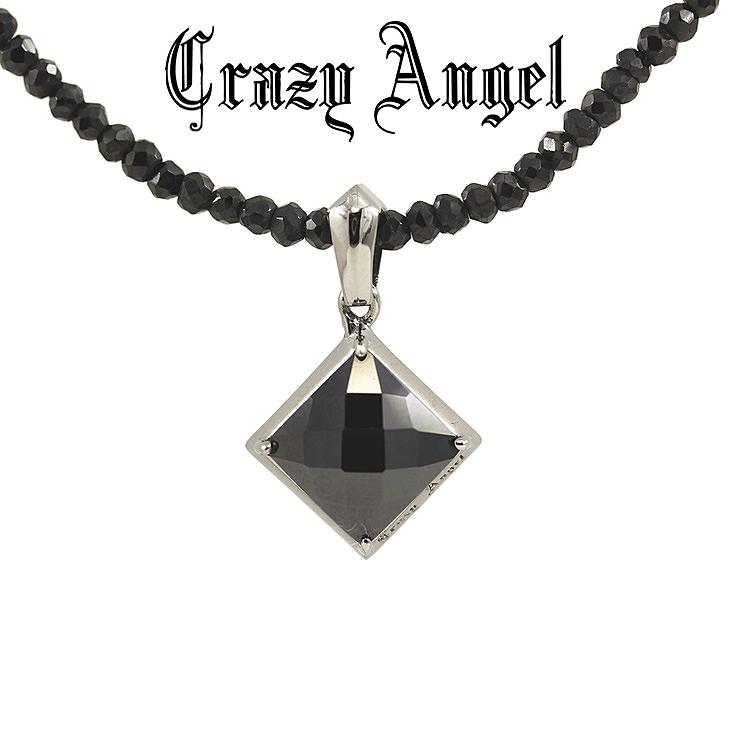 Crazy Angel クレイジーエンジェル ネックレス ブラックスピネル シルバー925 ユニセックス リバーシブル CA-601